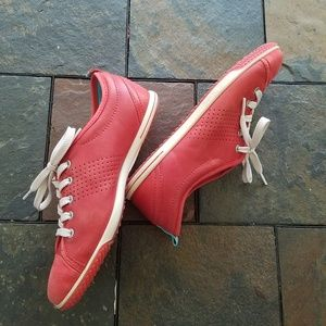 Ecco Red Leather Shoes Size 10